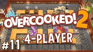Overcooked 2 - #11 - ONLY CONVEYOR BELTS?! (4 Player Gameplay)