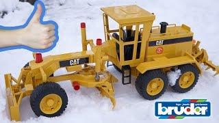 Bruder Грейдер CAT Рабочие машины для детей Обзор игрушек - машинок Брудер. Bruder Toys
