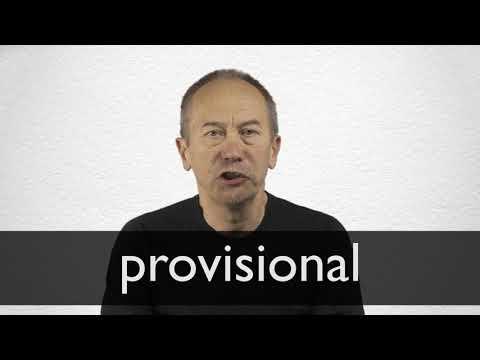 Sinonimo de provisional