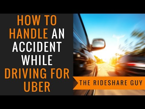 What to do after an accident while driving for Uber or Lyft