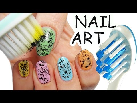 NAIL ART Facile Colorata con SPAZZOLINO da DENTI !