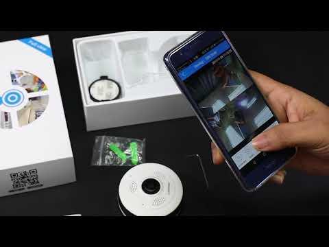 Meisort VR13 IP Camera 960P 1.3MP 360 Panoramic Fisheye Wireless Camera's connection process