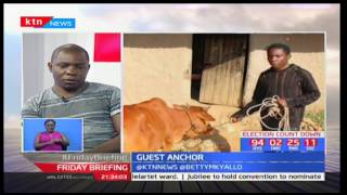 Kenya's latest Dollar Millionaire Samuel Abisai makes a courtesy call on Friday Briefing pt 1