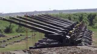 Army of Taiwan Firing Heavy Artillery Guns
