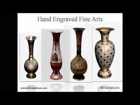 Beryl Brass Flower Vase