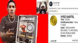 Vybz Kartel Hit Song Gets GOLD PLAQUE | CERTIFIED GOLD