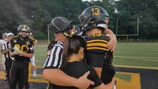 Military Dad Dresses as Referee to Surprise Kids at High School Football Game