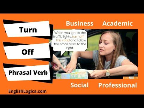 Turn Off Phrasal Verb