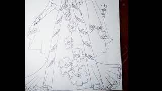 Drawing Moslem Fashion Design - Menggambar Baju Muslim