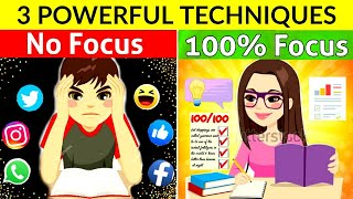 HOW TO CONCENTRATE ON STUDIES FOR LONG HOURS | 3 POWERFUL TIPS TO FOCUS ON STUDIES | Tips & Tricks