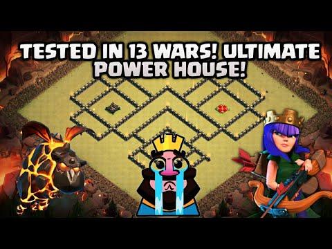 NEW TH9 5 War Base 2018 Anti Queen Walk | Anti 3 & 2 Star TH10 war