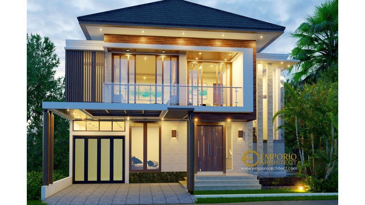 Video 3D Desain Rumah Modern 2 Lantai Ibu Andika di BSD, Tangerang, Banten