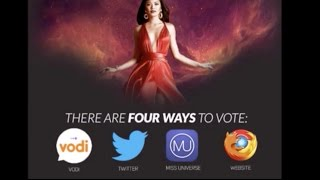 VOTING IS HAPPENING NOW! LIVE! FOUR (4) WAYS TO VOTE - MISS UNIVERSE 2016