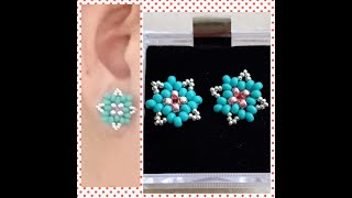 Simple Easy To Make DIY Beading Tutorial All Seed Beads Stud Earrings