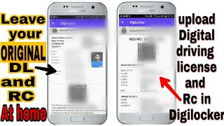 Store your digital driving License and RC in your digilocker and put original at home