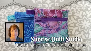 How To Make A Zippered Coin Purse