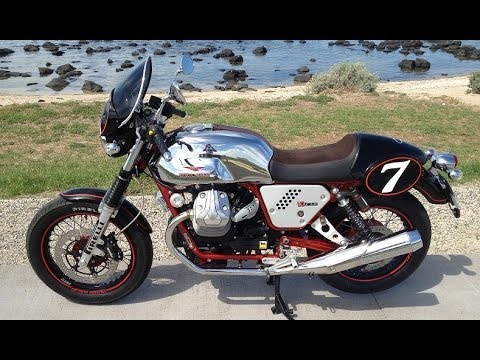 Moto Guzzi v7 racer review Video