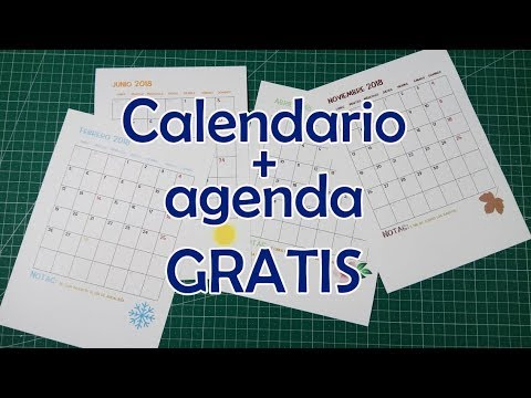 Imprime tu agenda + calendario 2018 GRATIS   Manualidades