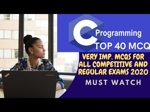 Top 40 C Programming Mcqs for Regular Exam 2020 C ... - YouTube