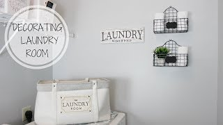 DECORATING THE LAUNDRY ROOM