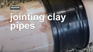 How to join Clay pipes