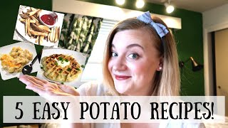POTATOES 5 WAYS! EASY, CHEAP FAMILY POTATO RECIPES!