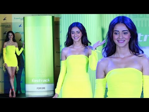 Ananya Pandey Looks So Stunning in Yellow Dress At Fastrack Perfume Launch