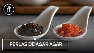 Cómo hacer PERLAS DE AGAR AGAR para decorar tus platos | Instafood