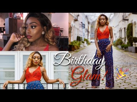 BIRTHDAY MAKEUP, HAIR & OUTFIT GLAM! | MY FAVOURITE HAIR FROM YOLISSA HAIR