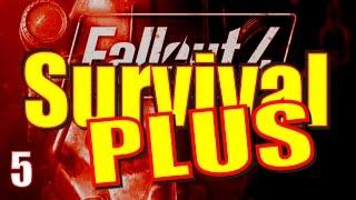 Fallout 4 Survival Mode Walkthrough Part 5 - Battle in Park Street Station!