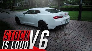 My Friend's STOCK V6 Camaro RS 2LT Is LOUD!