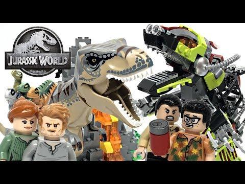 LEGO Jurassic World T. Rex vs Dino-Mech Battle review! 2019 set 75938!
