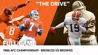 """""""The Drive"""" Broncos vs. Browns 1986 AFC Championship Game 