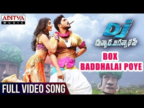 Download Box Baddhalai Poye Full Video Song | DJ Full Video Songs | Allu Arjun | Pooja Hegde | DSP HD Mp4 3GP Video and MP3