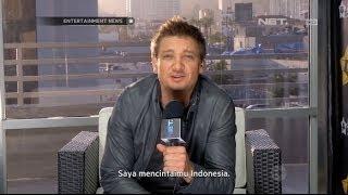 Джереми Реннер, Интервью Джереми Индонезийскому каналу NET.