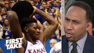 Stephen A. reacts to the brawl at Kansas vs. Kansas State | First Take