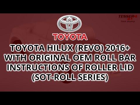 Βίντεο εγκατάστασης για Toyota hilux (Revo) 2016+ συμβατό με Toyota's OEM roll bar