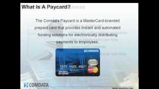 Comdata MasterCard Paycard Overview