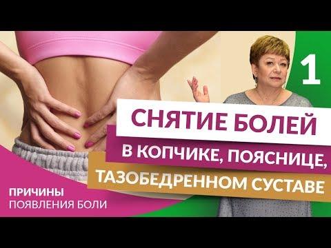 Снятие болей в копчике, пояснице, тазобедренном суставе.  Часть 1.  Причины появления боли