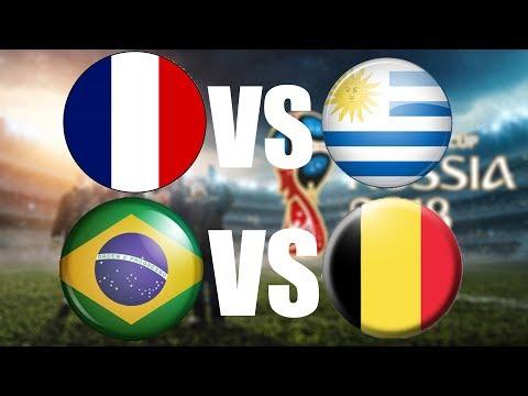FIFA World Cup 2018 | ČTVRTFINÁLE | Francie - Uruguay | Brazílie - Belgie | CZ/SK