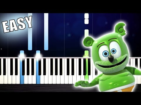 The Gummy Bear Song - EASY Piano Tutorial by PlutaX