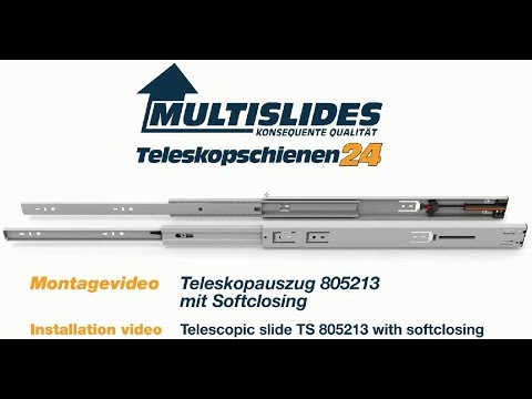 Montagevideo TS 805213 Teleskopauszug mit Softclosing deutsch englisch 2017 08 20