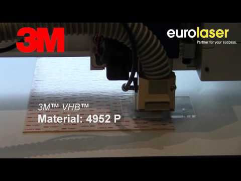 3M VHB adhesive foils in laser test | Laser cutting
