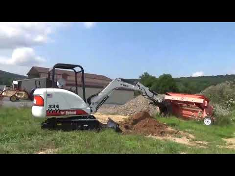 2002 Bobcat 334 Rubber Track Mini Excavator With Thumb Kubota Diesel 2 Speed For Sale