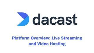 Dacast video