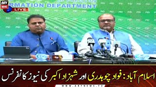 Islamabad: Fawad Chaudhry and Shahzad Akbar News Conference