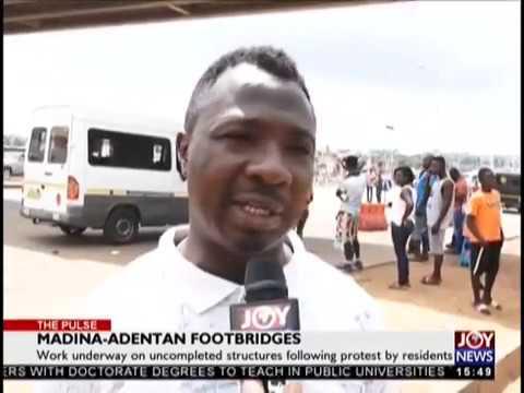 Madina-Adentan Footbridges - The Pulse on JoyNews (21-11-18)