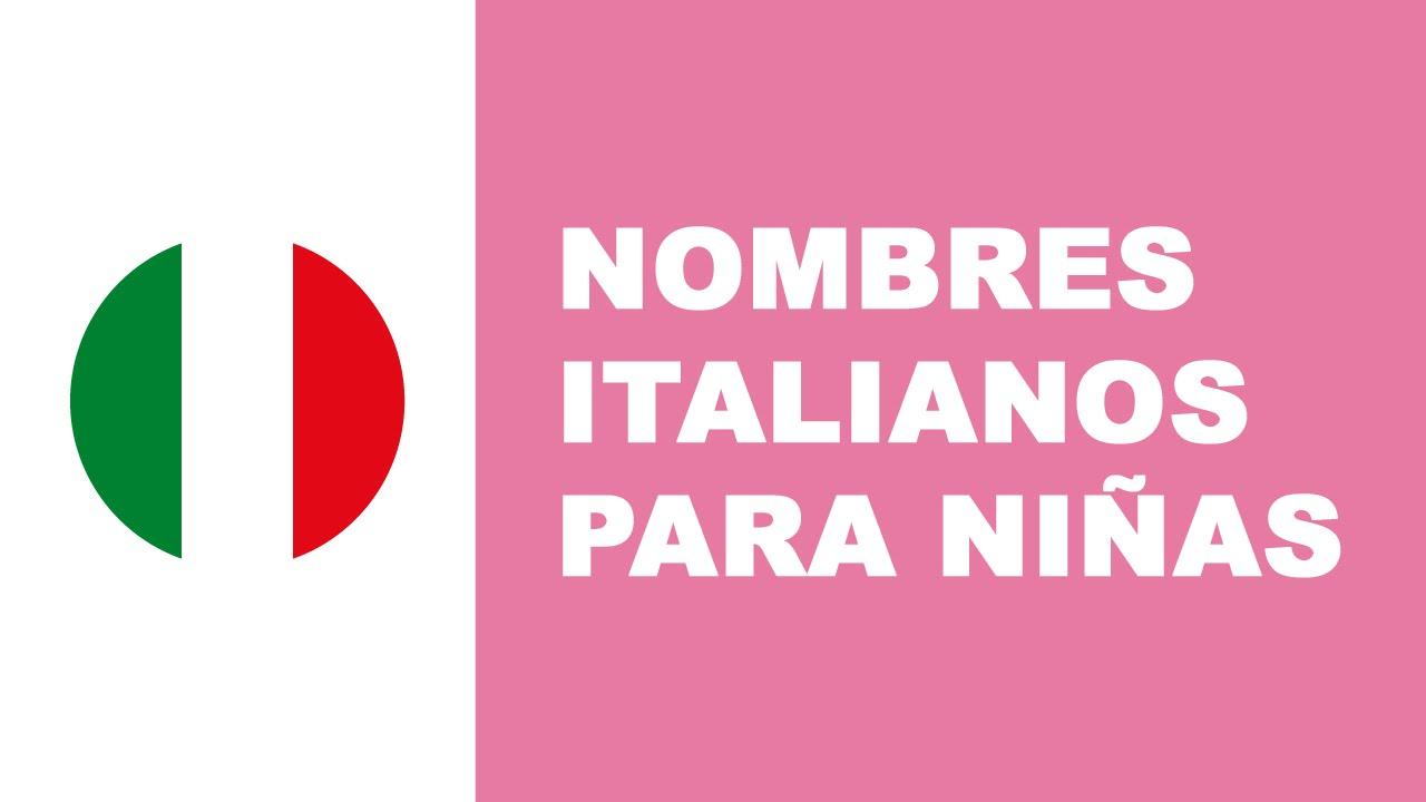 Nombres italianos para niñas