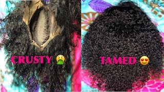 HOW TO: RESTORE/REVIVE OLD CURLY WIG IN UNDER 15 MINUTES