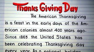 Write essay On Thanksgiving Day - Thanksgiving Day for Kids - What is Thanksgiving Day-United States